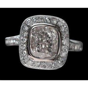2.51 carat diamond wedding ring halo setting gold